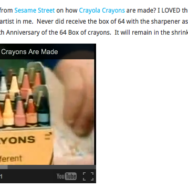 #TBT – How Crayola Crayons Are Made